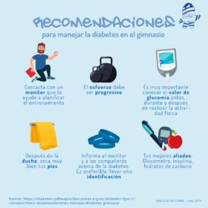 Recomendaciones diabetes en el gimnasio