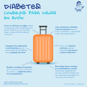 Viajar en avin consejos diabetes